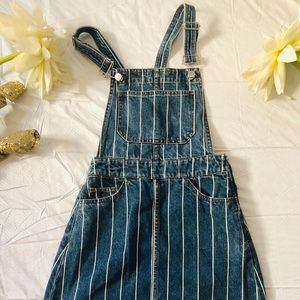 H&M DIVIDED striped overalls